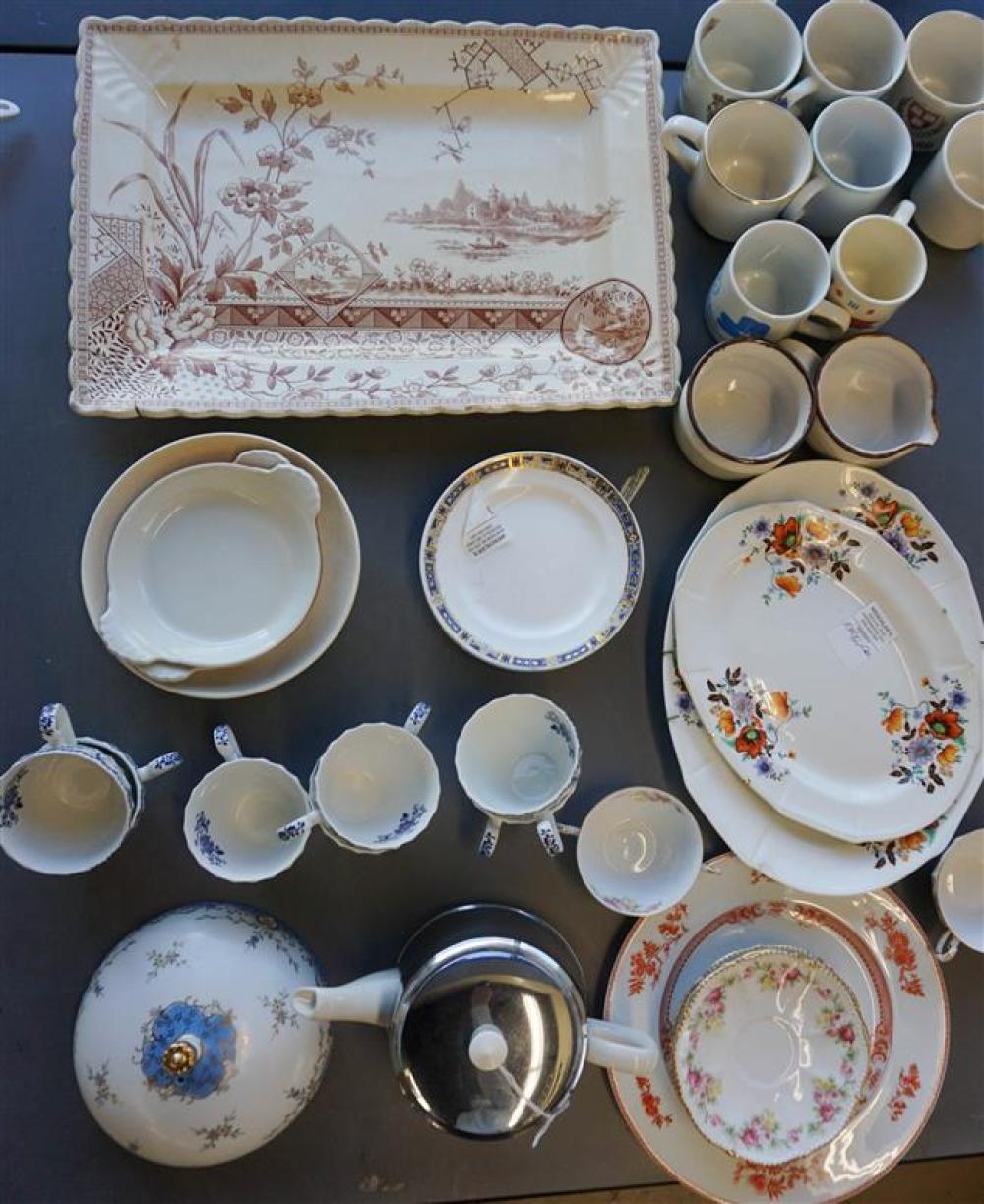 Group with Porcelain, Ironstone and Ceramic Table Articles