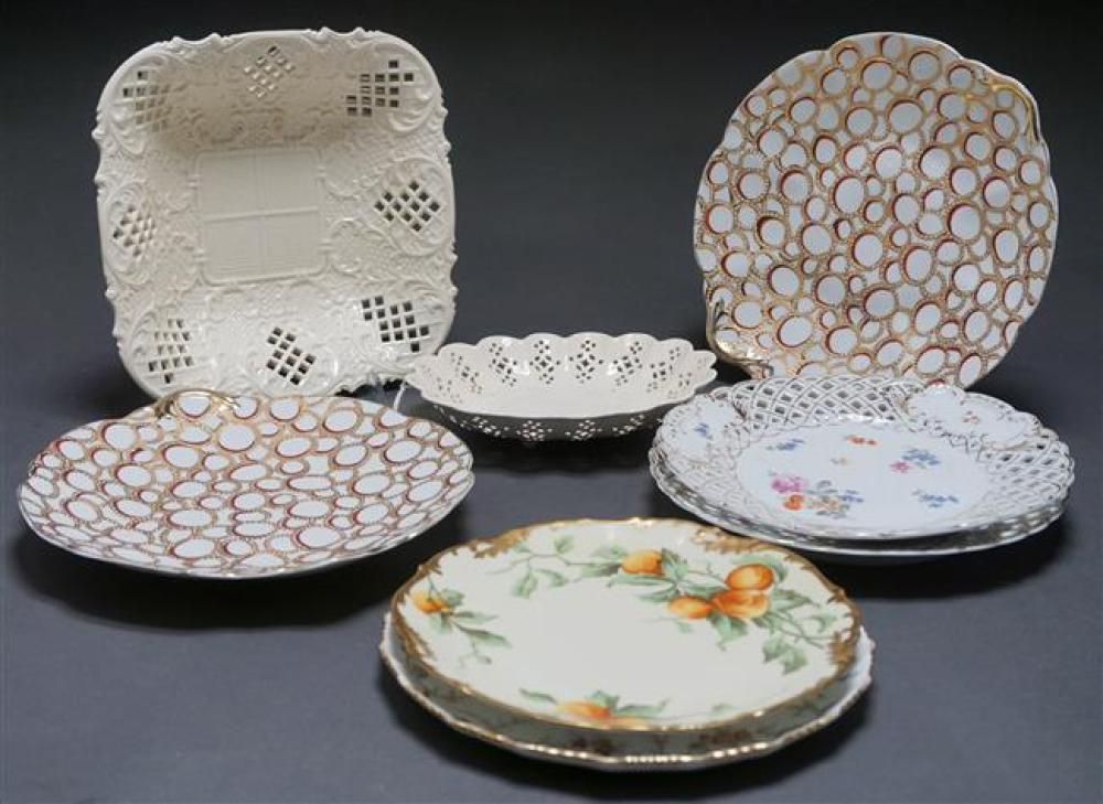 Group with Soft Paste and Porcelain Table Articles, Consisting of Six European Pastes and Two Creamware Articles