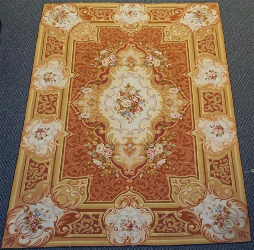 Aubusson Style Rug, 9 FT x 6 FT