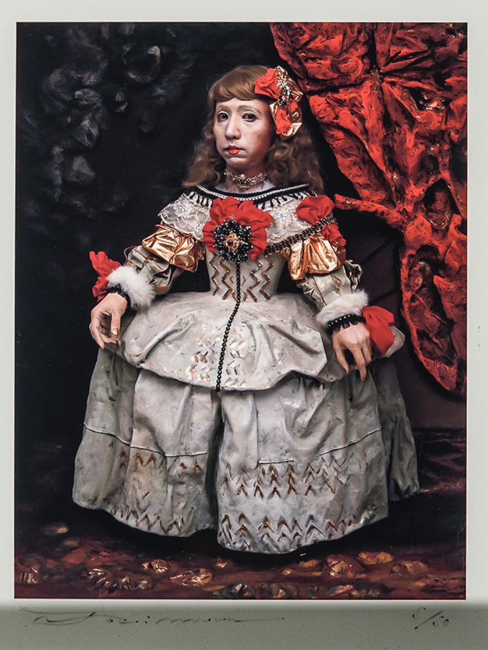 Yasumasa Morimura (Japanese b. 1951), Daughter of Art History: Princess A, Signed, Framed C-Print, 9 x 7 inches, Frame: 19 x 16 in