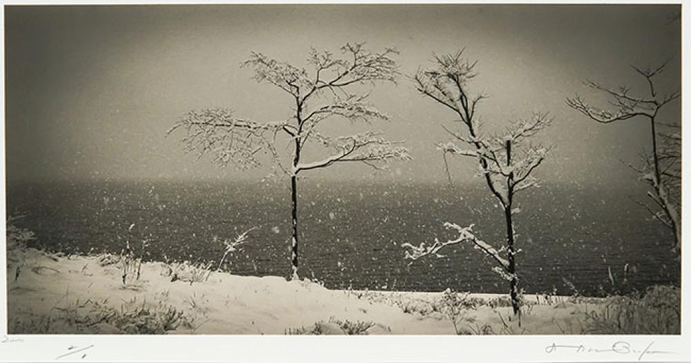 Hiroshi Osaka (Japanese b. 1956), Atmospheric Landscape #11 and #31: Two Works, Frame: 23-1/4 x 29 in