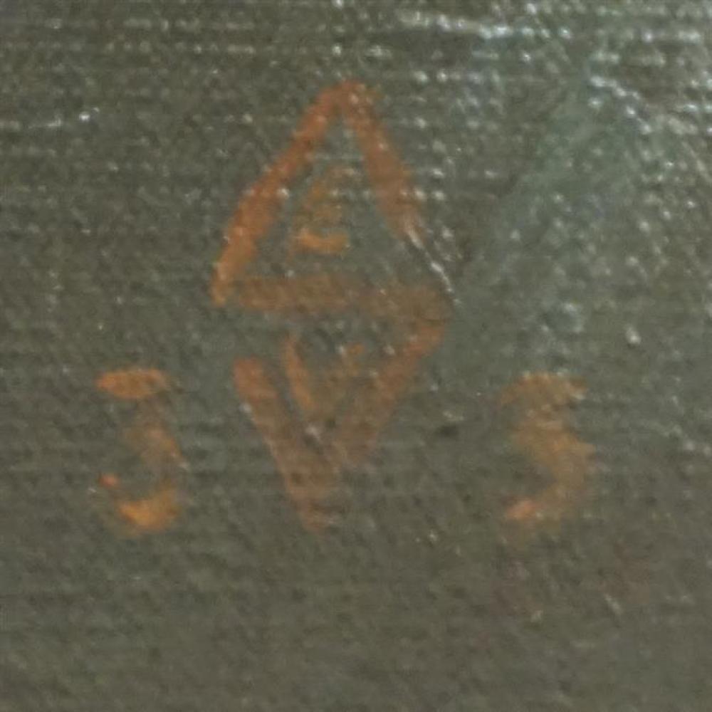 French School 20th Century, Dahlias, Oil on Canvas, Frame: 30-3/4 x 26-1/4 in