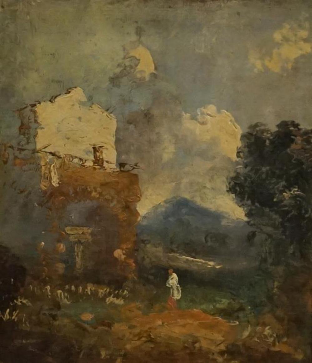 Style of Francesco Guardi, Capriccio, Oil on Canvas, Inscribed George Southward, Salem, Frame: 15-1/4 x 13-1/4 in