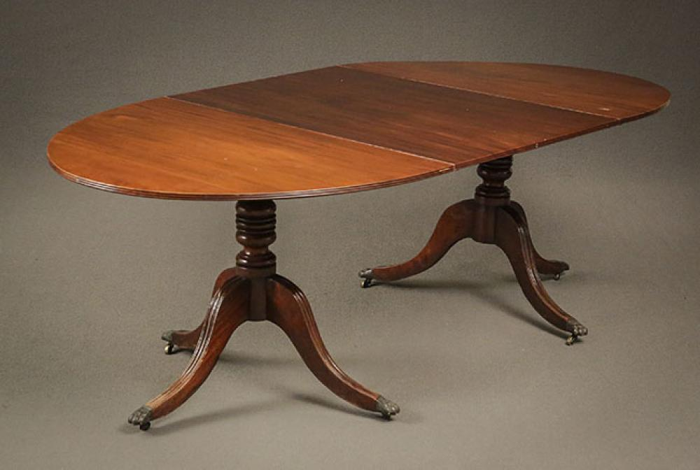 Regency Mahogany Two-Part Dining Table First Quarter 19th Century