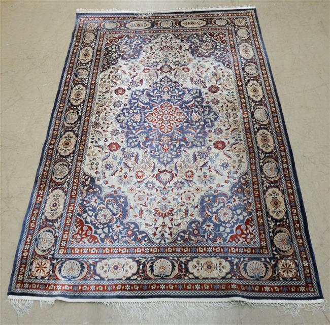 Chinese Tabriz Rug; 8 FT 10 IN x 6 FT