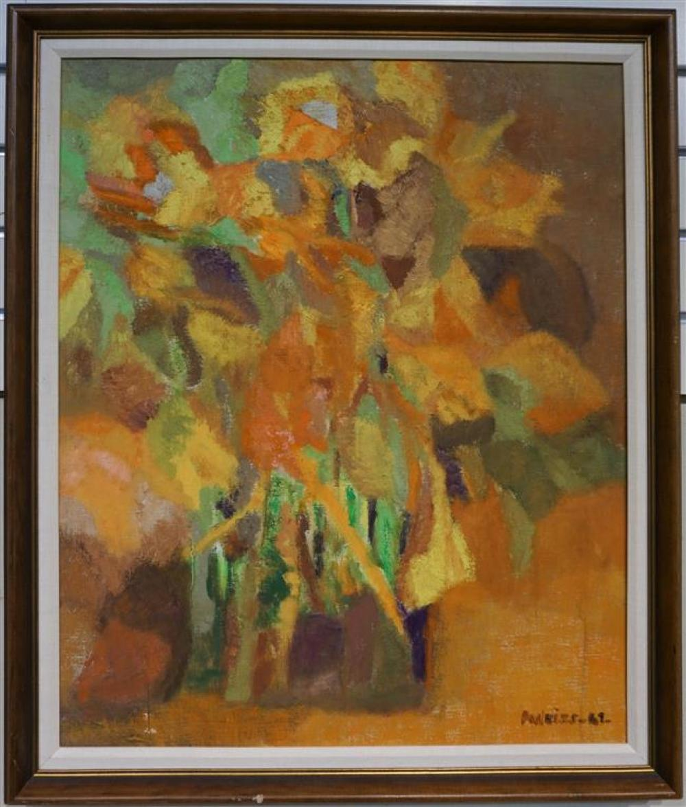 A. Weiss, Conchita (Abstract), Oil on Canvas; Framed: 27 x 22.75 Height by Width Inches