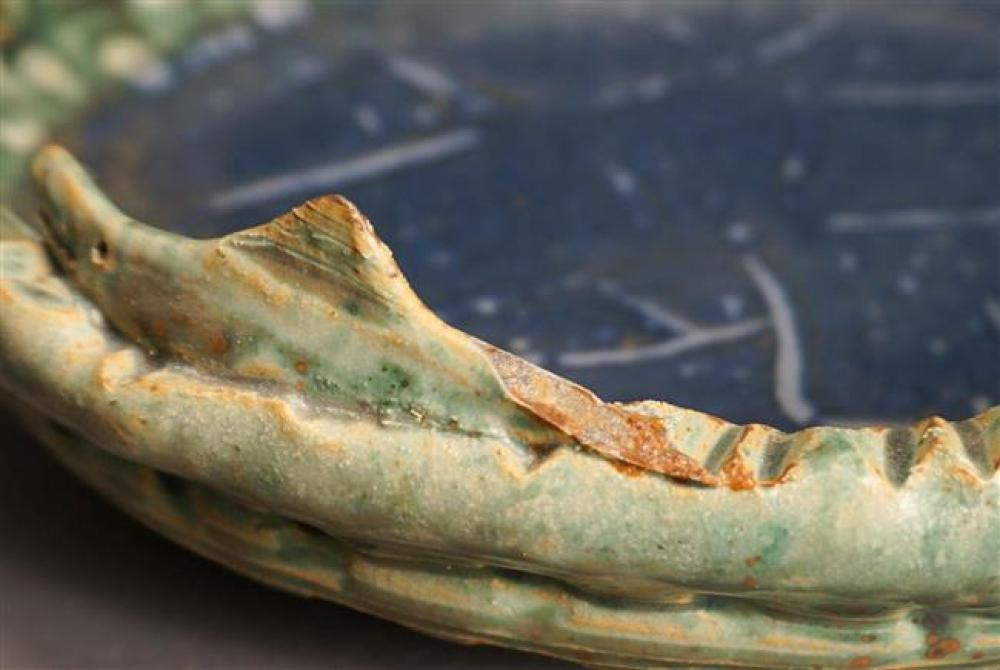 Val Cushing (Am born 1931), Green and Blue Ceramic Bowl, Diameter: 11-1/2 Height: 3 in