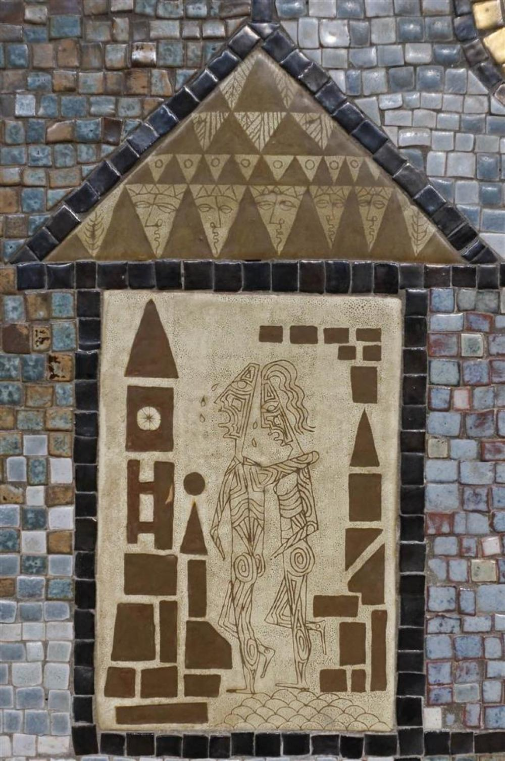 David Holleman, The Expulsion, Framed Mosaic Tile; Panel: 26 x 23.25 Inches