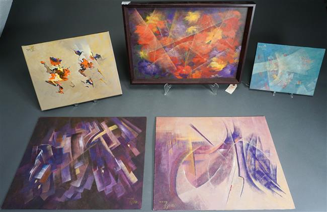 Mile Vrtikapal Lale, Five Assorted Paintings, Each Signed and Titled on Reverse