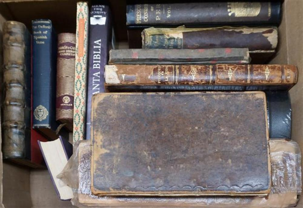 Box with Antique and other Books, including The Anatomy of the Human Body, Pub. London 1703