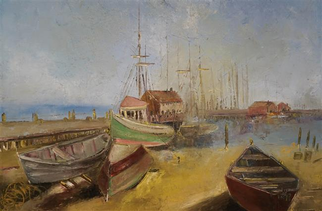 Victor Cassanelli, Provincetown, Massachusetts, Oil on Canvas; Framed: 25 3/8 x 31 1/4 Inches