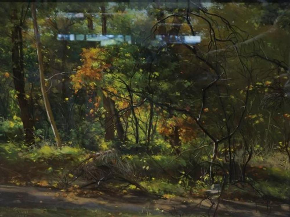 Anne Marie Fleming, Path in the Woods, Pastel (Steven Scott Gallery, Baltimore, MD); Framed: 25 x 29 Inches