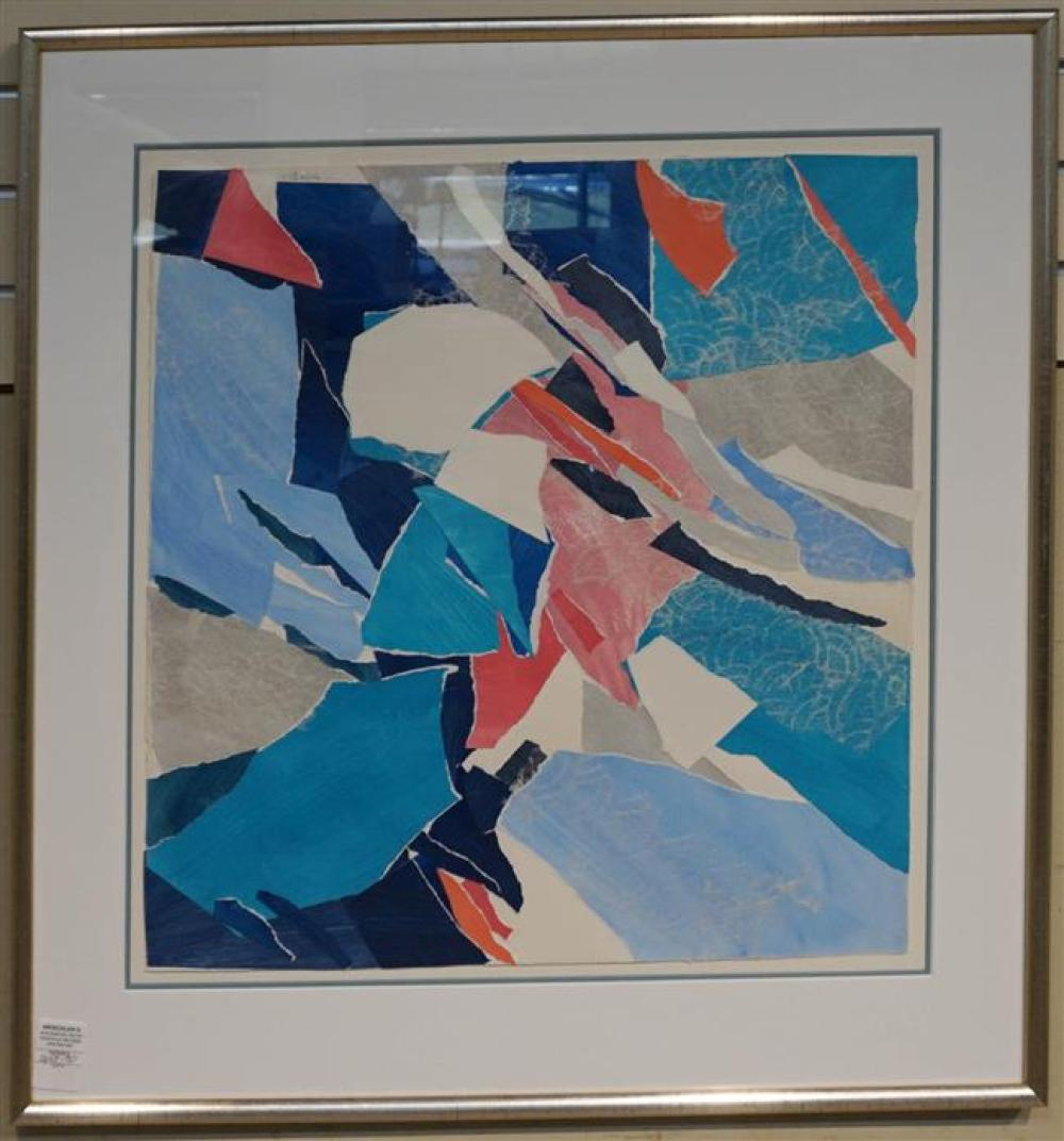 Gustafson, Untitled (Abstract), Mixed Media; Framed: 32 x 30.5 Height by Width Inches