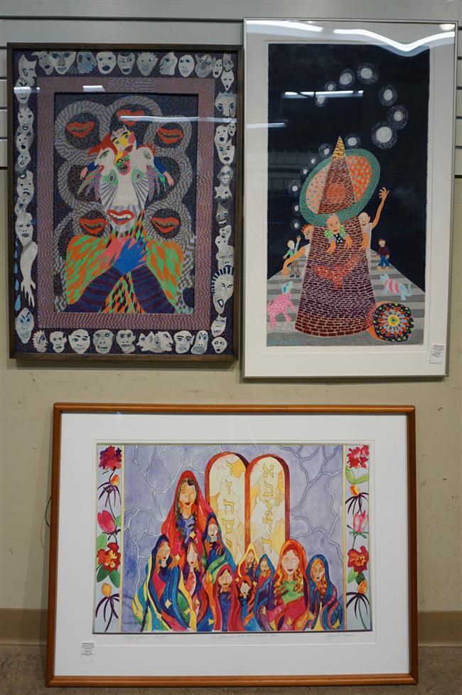 John Guernsey, Two Crayon Drawings and Judith Lessin, Ninyan, Chromolithograph, 31/100