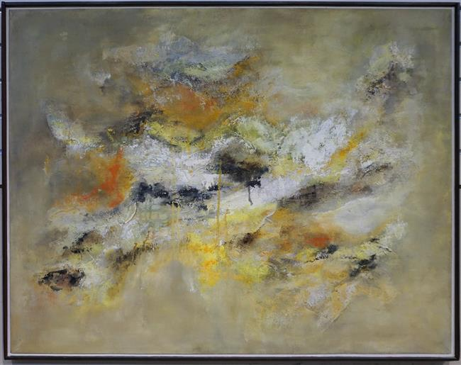 Signed by Norma Newpol, 20th Century School, Abstract, Oil on Canvas; Framed: 29 x 37 Height by Width Inches