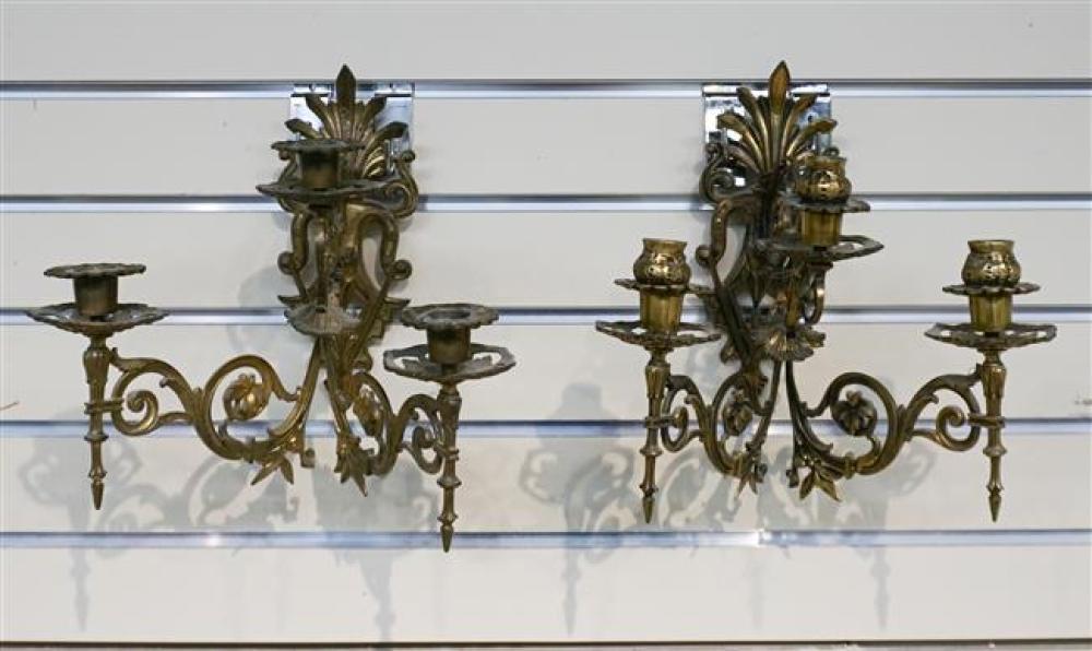 Pair of Three Light Wall Sconces