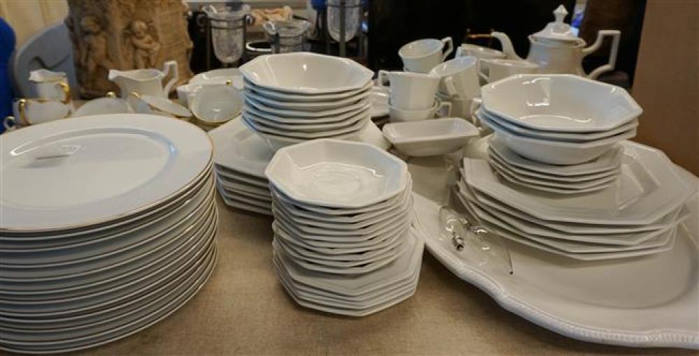 Johnson Bros. White Glaze Ironstone and Japanese Gold Band Porcelain Dinner Services