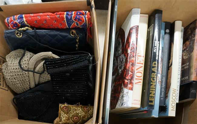 Box with Books and Box with Purses