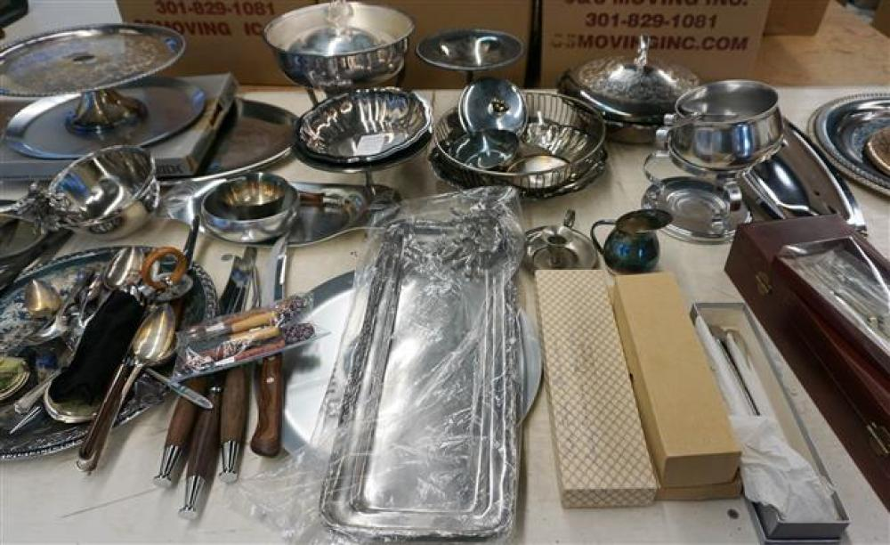 Collection of Mostly Silver Plate Serving and Table Articles