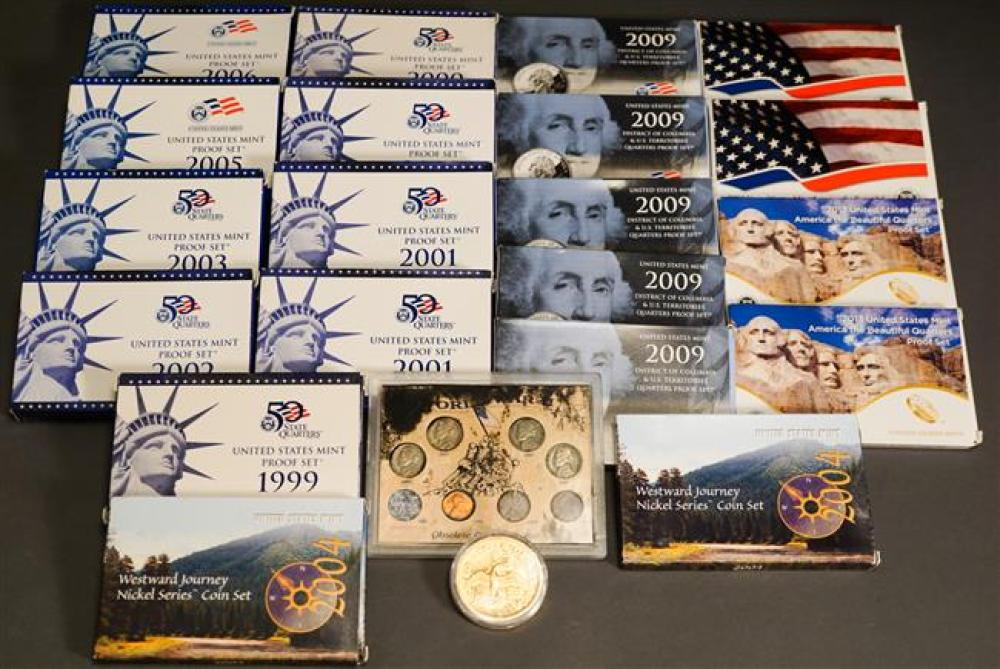 Collection of US Proof Sets and Other Coins