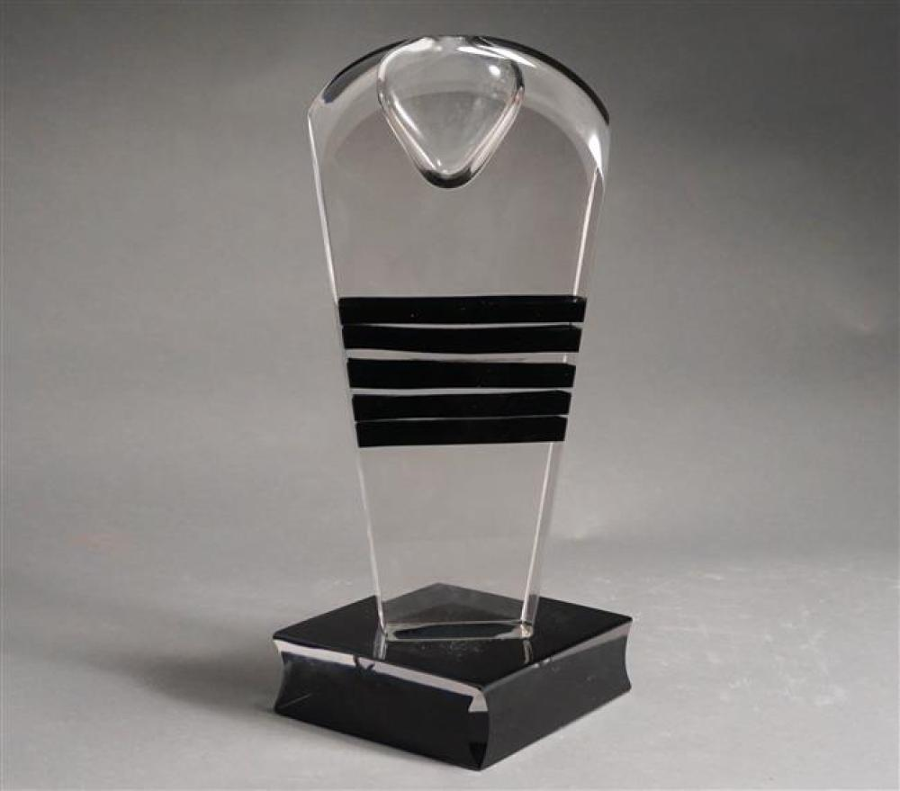 Pino Signoretto (Italian b 1944), Abstract Glass Sculpture, Height: 17-3/4 in (chip to base)