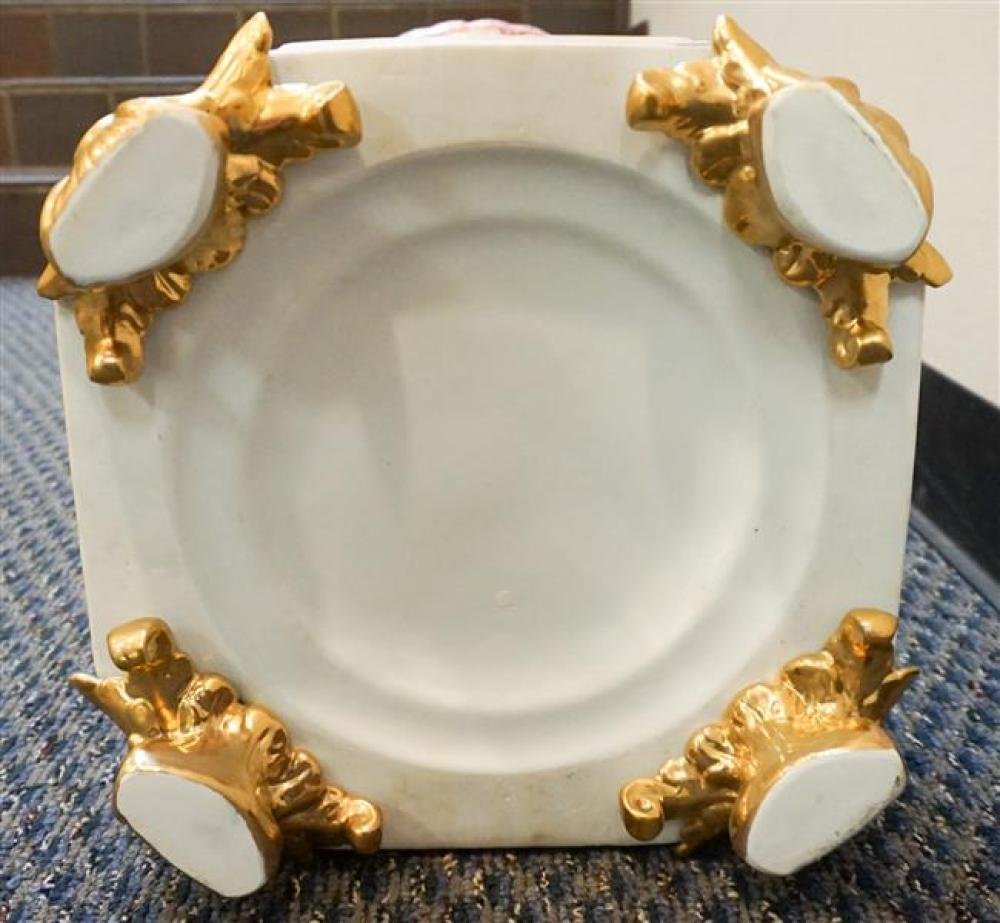 Continental Style Glazed Ceramic 'Three Graces' Large Centerpiece, 29-1/2 in