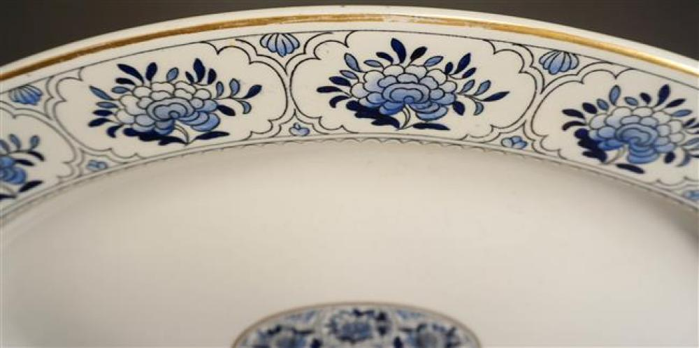 English Ironstone Oval Platter, Marked Worcester; 21 x 16.75 Inches
