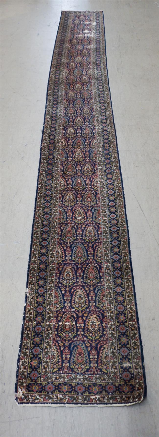 Caucasian Runner (Wear), 21 ft 2 in x 2 ft 9 in