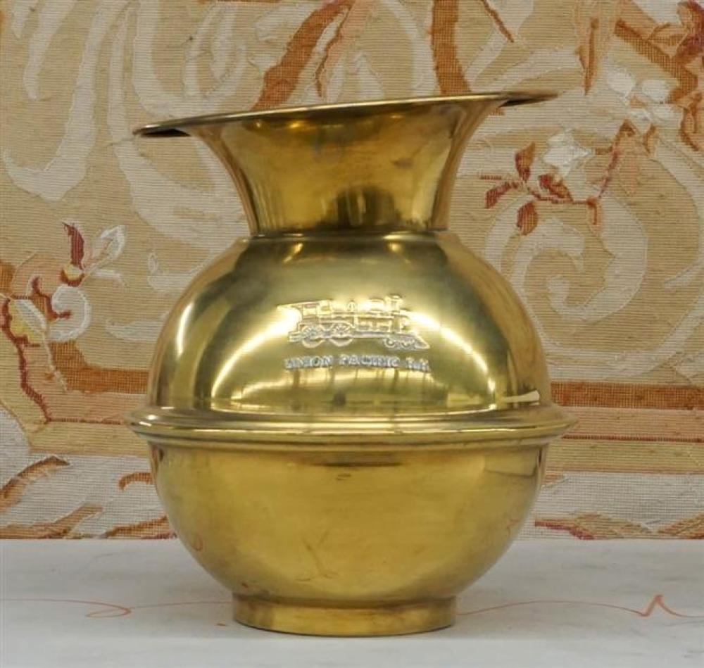 Reproduction Union Pacific Railroad Brass Spittoon