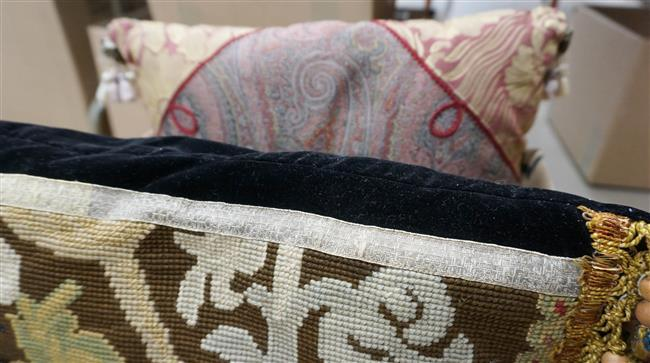 Three Assorted Throw Pillows