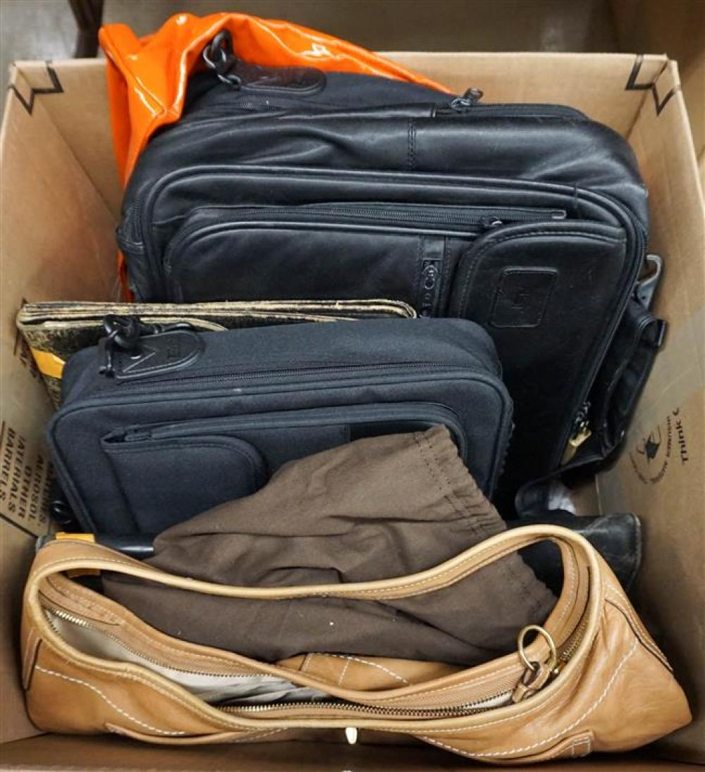 Coach Tan Leather Purse and Five Leather and Vinyl Briefcases and Computer Bags