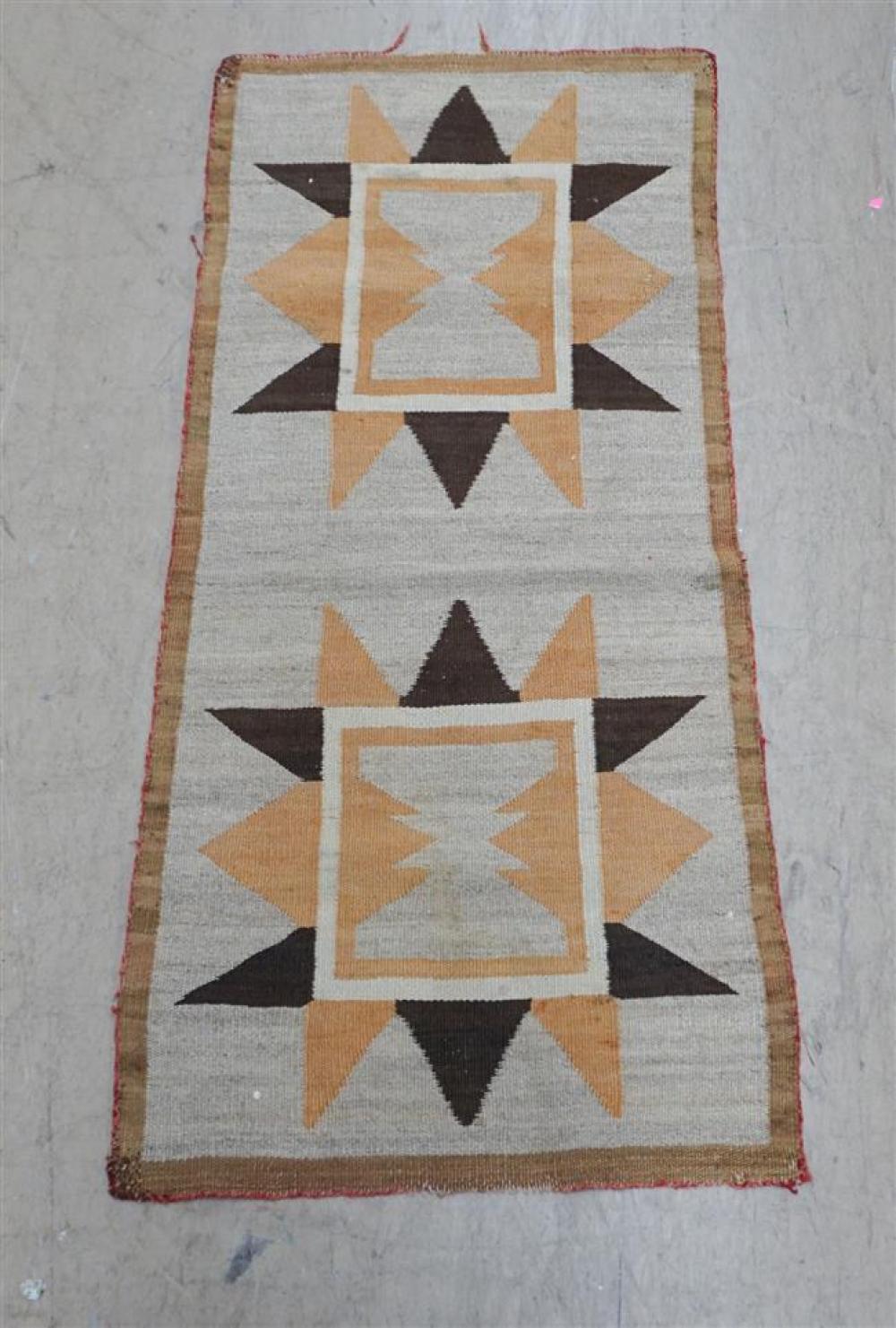 Navajo 'Double Star' Weaving, 3 ft 11 in x 1 ft 10 in