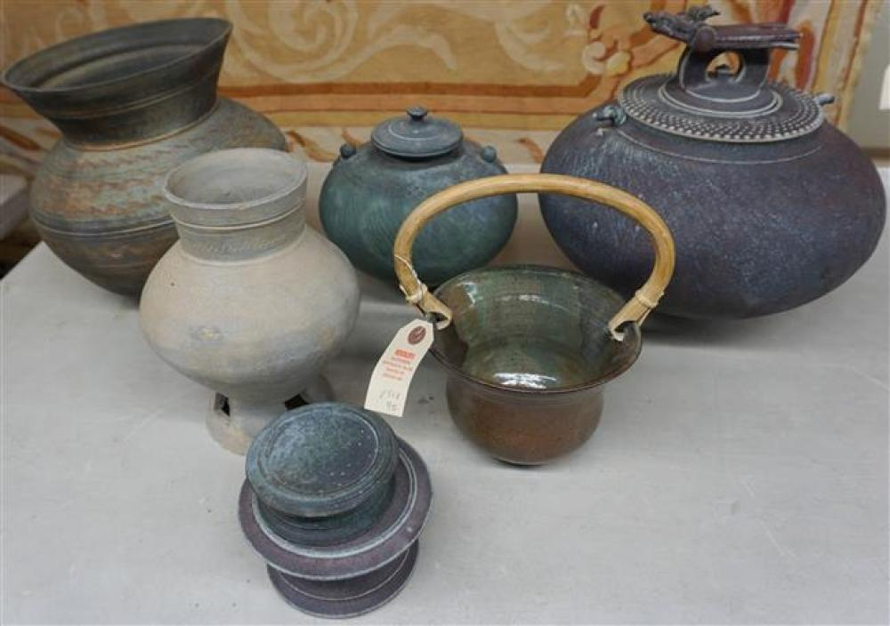 Group with Contemporary Pottery