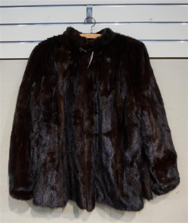 Brown Mink Fur Coat; Miller's Furs label