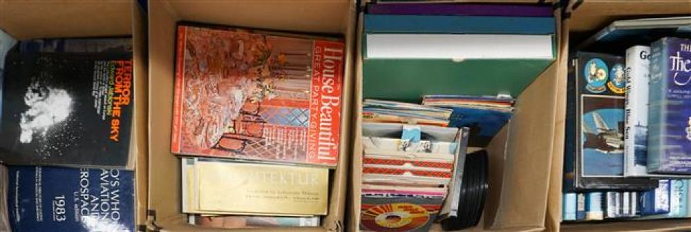 Two Boxes of Books, Box with Magazines and Box with Records