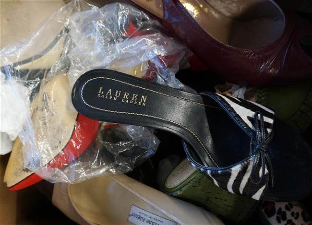 Two Boxes with Ladies Shoes (size 7-1/2-8-1/2) and Two Boxes with Ladies Purses and Clothing