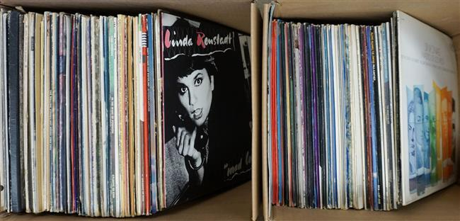 Two Boxes with Long Playing Records