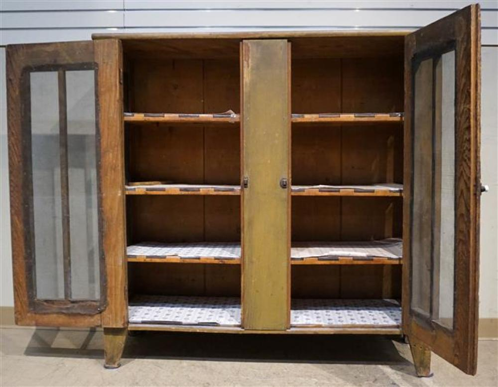 American Stained Pine Two-Door side Cabinet; 49.25 x 49 x 16 HWD Inches