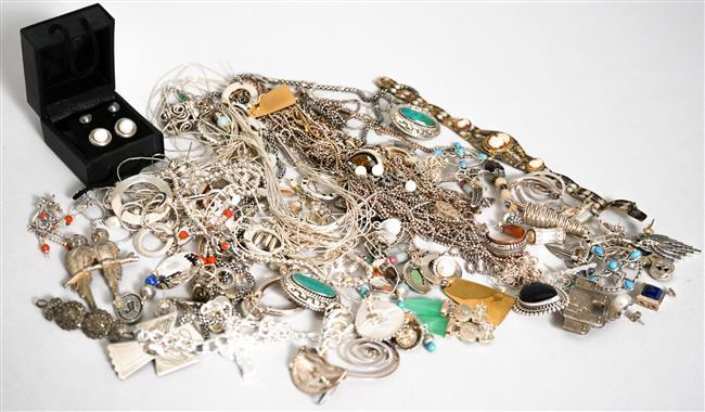 Collection with mostly Sterling Silver Jewelry