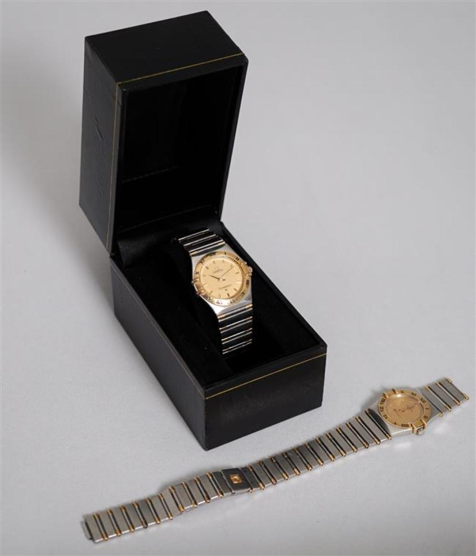 Two Omega Constellation Quartz Wristwatches