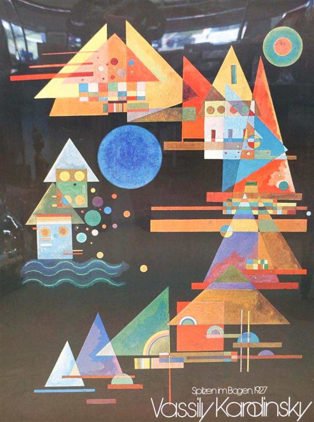 Vassily Kandinsky Color Poster, Frame: 48-1/2 x 36-1/2 in