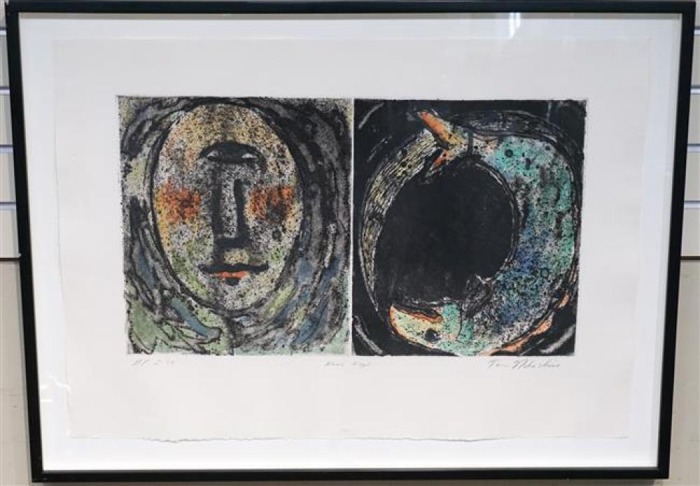 Tom Nakashima, ' Kami Kaze', Colored Etching, Frame: 25-1/4 x 34 in