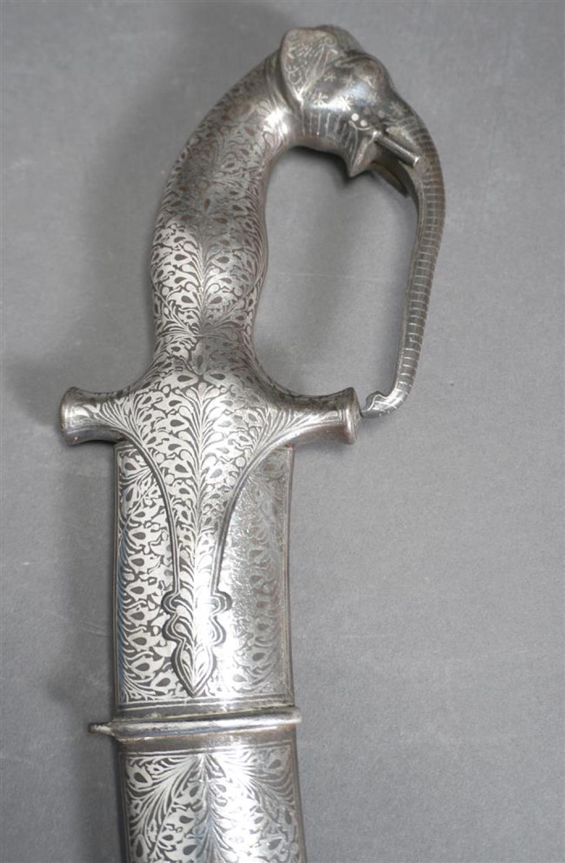 Persian Niello Decorated Metal Dirk