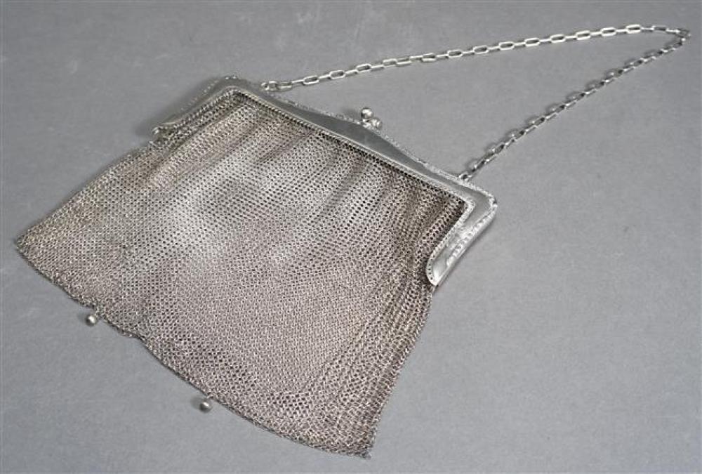 German 800-Silver Mesh Purse, 6.5 oz