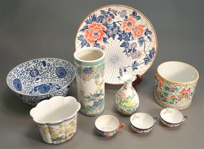 Collection of Nine Chinese and Japanese Porcelain Articles