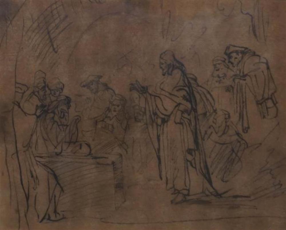 Jesus at Temple, Print, Frame: 16-1/4 x 17-3/4 in
