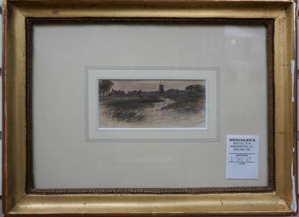 W. E. Kenyon, English 19th Century, Evening Norfolk, Watercolor, Frame: 9-1/2 x 12-3/4 in