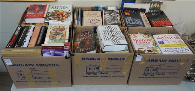Library of Books (Novels and Cooking), Six Boxes