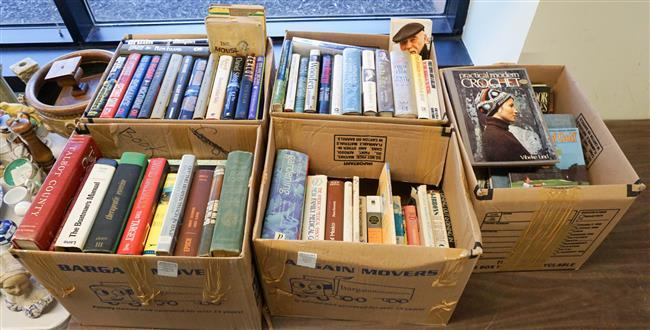 Library of Books (mostly Novels), Five Boxes