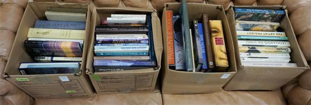 Library of Mostly Art Books (Four Boxes)